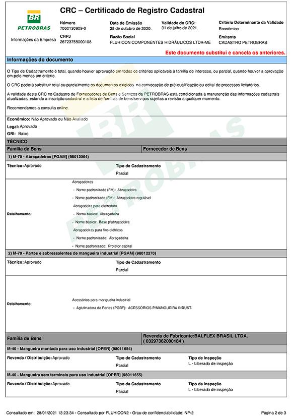 Certificado CRC Petrobras