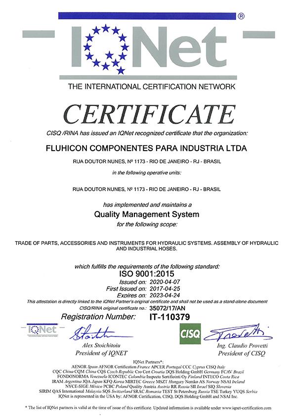 Certificado ISO 9001 Qnet